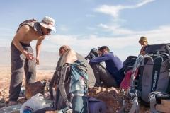 Mittagspause auf dem Israel Trail