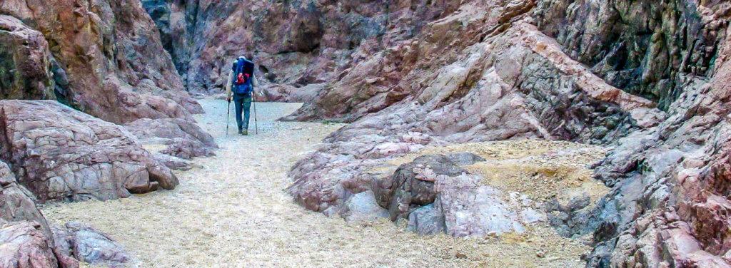 """15:27 Uhr: Wadi Shehoret Eilat Mountens, Negev, Israel(29°37'27"""" N 34°55'39"""" E) Wir fanden 4 Freunde. Endlich am Eingang zum Wadi Foto: Bettina Anzenhofer"""