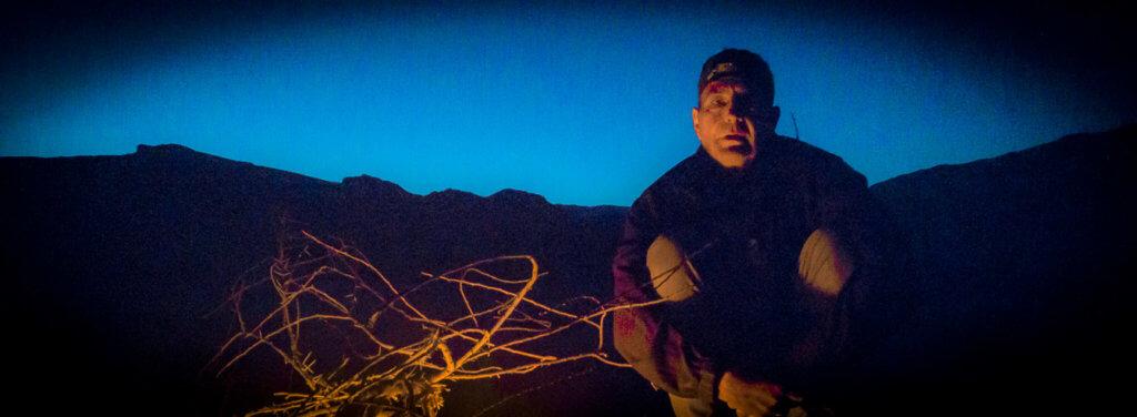 """18:16 Uhr: Night Camp Shehoret, Negev, Israel(29°37'15"""" N 34°56'27"""" E) Ich liebe die Wüste! Foto: Aron Kamphausen"""
