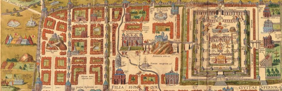 Landkarten Jerusalem