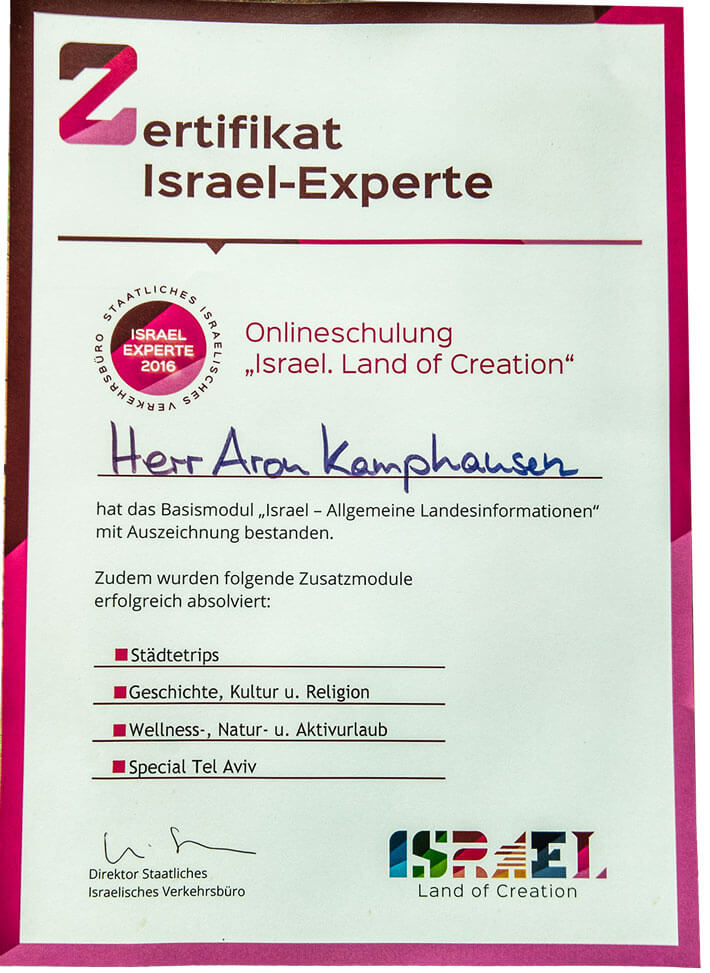 urkunde-israel-experte