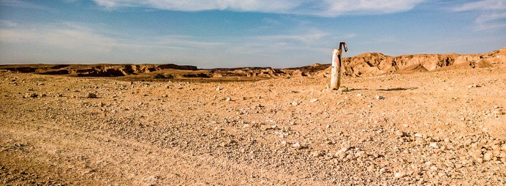 Wüstenwanderung -Unedlichkeit-