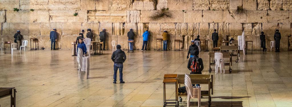Am Ender meiner Wanderung, -Die Kottel in Jerusalem-