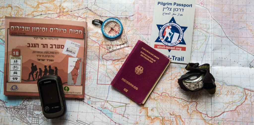 Karte Kompass und GPS