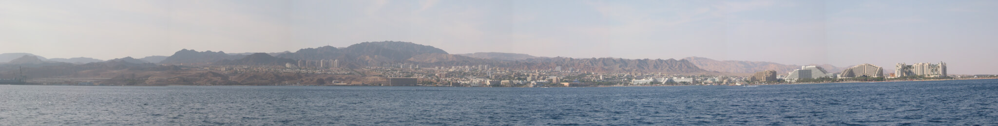 Panoramablick auf den Golf von Elat