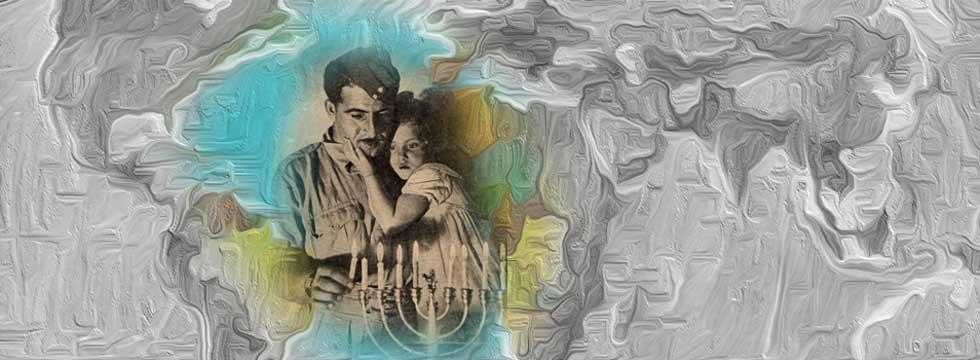 Chanukka Abend in einer jüdischen Familie