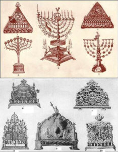 historische Chanukka Leuchter